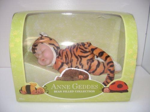 Anne Geddes 9in Plush Tiger Sleeping Baby Doll in Orange Anne Geddes Plush Tiger