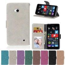Lumia 640 Case,XYX [Gray][Scrub Series] PU Leather Flip Folio Kickstand ... - $4.94