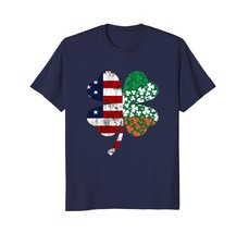 Dad Shirts -  IRISH AMERICAN FLAG Ireland Shamrock St Patricks Day T Shi... - $19.95+