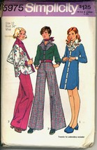 Uncut 1970s Size 12 Transfer Western Shirt Dress Pants Simplicity 5975 P... - $7.99