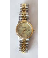 Medena Mens Quartz Sport Wristwatch with Steeland Yellow Trim and Silver... - $35.00