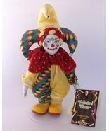 Clown Jester Doll Bisque Porcelain Collectors Choice Handcrafted Special Edition - $25.00