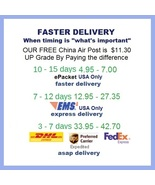 Shipping Pay Link for Faster Delivery - Options for Fast, Express, or ASAP  - $6.22 CAD+