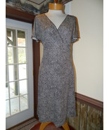 Ann Taylor size 4 Brown Dot Work Church Date dress Rayon preloved excellent - $25.99