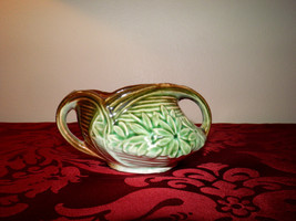 1940 McCoy Open Sugar Bowl - Daisy Pattern - Green & Brown - Replacement... - $22.95