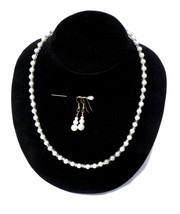PRICE  REDUCED - Tudor Necklace Set - Glass Pearl Beaded Necklace - Rena... - $15.00