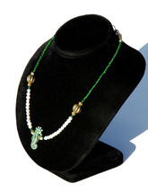 Ceramic Seahorse Beaded Necklace - With 1960's ... - $39.00