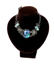 BRACELET - Murano Glass w/Gemstones Handcrafted Twisted Silver Wire Wrap... - $10.00