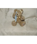 "BOYDS COLLECTION 9"" Bear Fawn Mohair MISS YOU Blue Blankey Blanket 1988-... - $12.00"