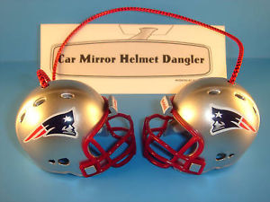 NEW ENGLAND PATRIOTS CAR MIRROR NFL FOOTBALL HELMET DANGLER-HANG FROM ANYTHING!
