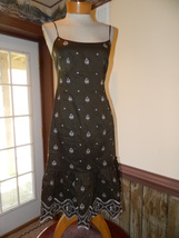 Ann Taylor Loft  size 0 Brown Embroidered desig... - $24.99