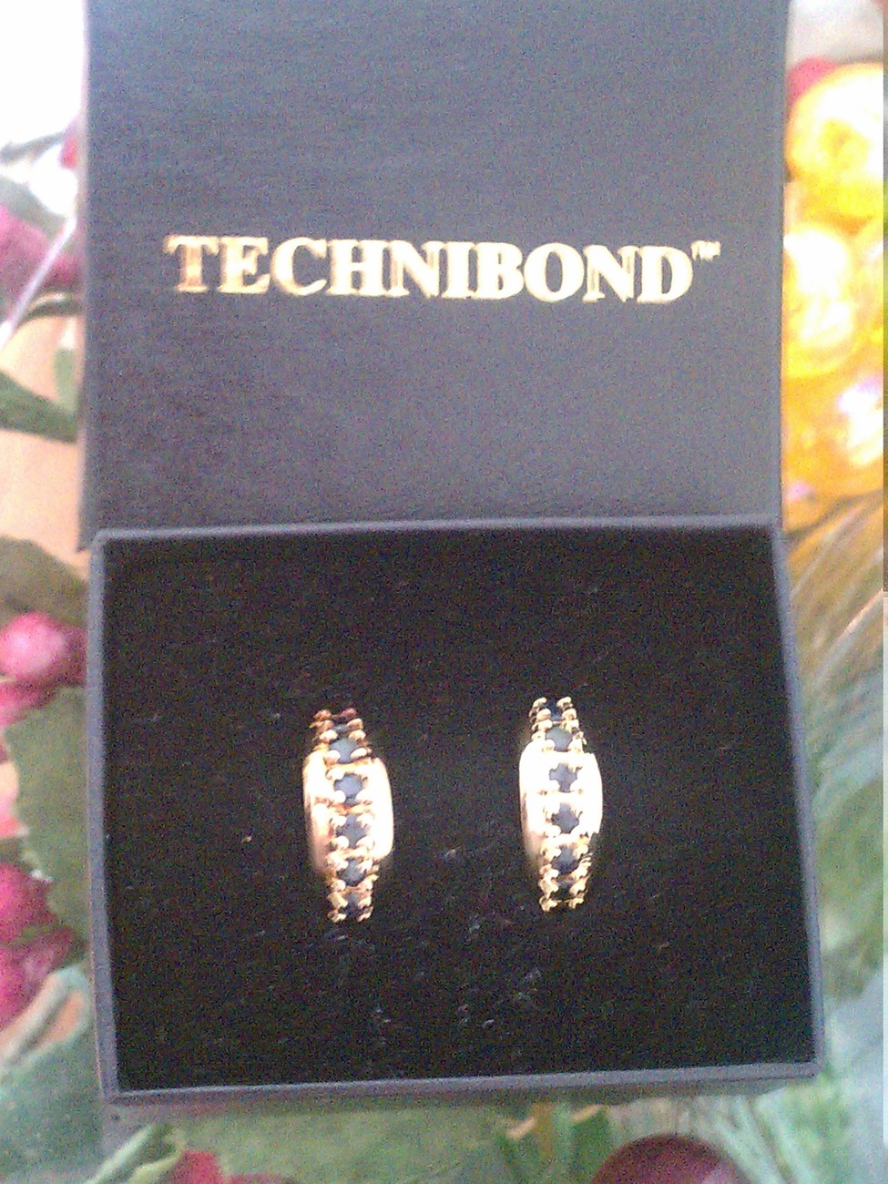 Technibond Huggie Hoop Earrings Sapphire Emerald or Ruby Choice