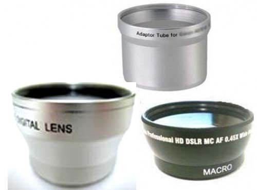 Primary image for Wide Lens + Tele Lens + Tube bundle for Olympus C-750 C-760 C-765 C-770 SP-500
