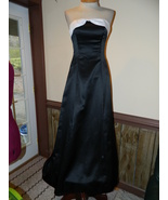 Jump size 3/4 Black Prom Pageant Cruise Party dress Strapless Preloved E... - $39.99