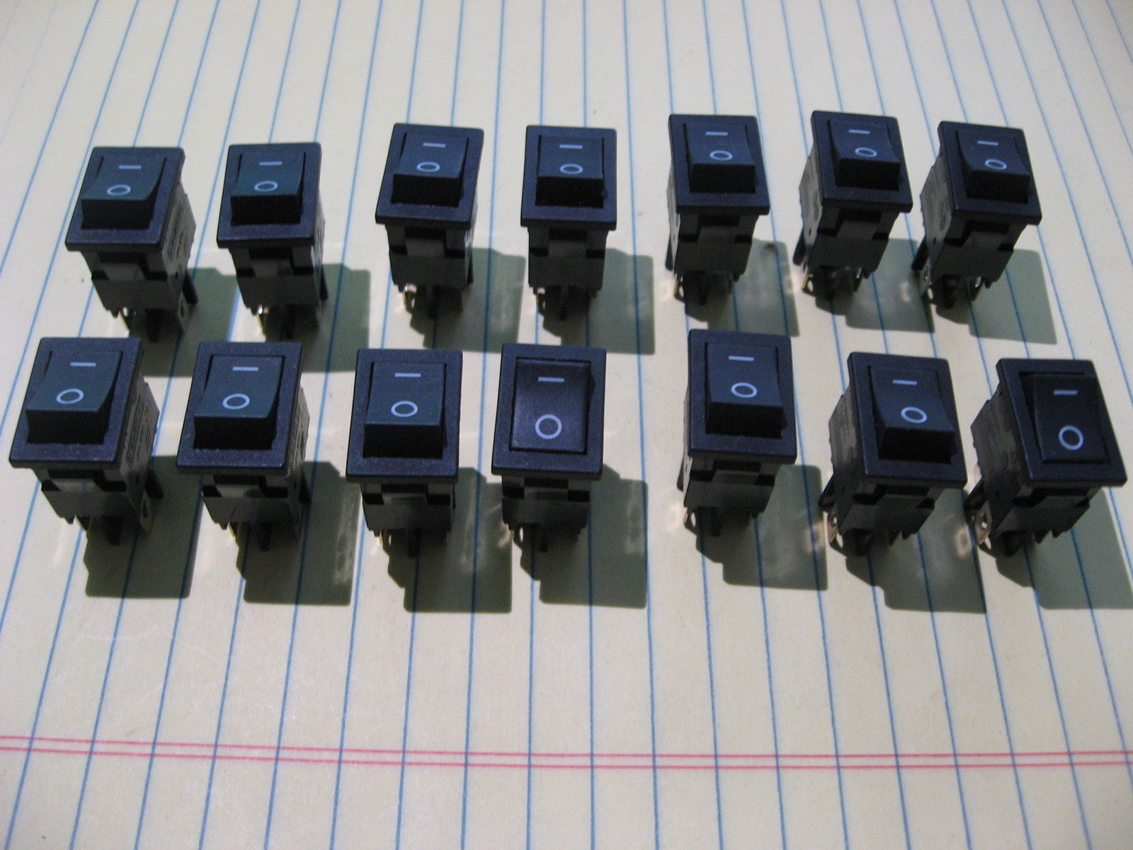 Lot Of 14 Rocker Switch Dpst 8 A 125 Vac and similar items