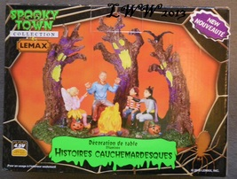 Lemax Halloween Spooky Town Scary Stories Lighted Table Accent Battery - $20.99