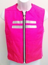 CYBERDOG flourescent neon Pink vest jacket Fetish Clubwear Goth Cyber Pu... - $116.00