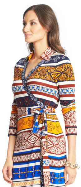 Diane Von Furstenberg New Jeanne wrap dress size 8