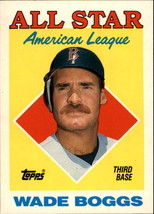 1988 Topps Wade Boggs #388 All-Star Boston Red Sox (EX)  Baseball Card - $0.69