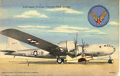 Primary image for B 29 Superfortress 1946 Vintage Post Card.