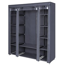 "59"" Portable Clothes Closet Wardrobe Non-woven Fabric Storage Organizer... - $69.30"