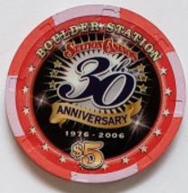 Boulder Station Las Vegas, NV 30th Anniversary Ltd 1000 Edition $5 Casino Chip - $9.95
