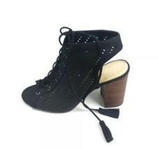 "JESSICA SIMPSON ""TINNAY"" Women's Black Lace Up Heel/Sandals Shoe Size 9.5 - $44.55"