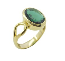 charming Emaerald cz Gold Plated Green Ring jaipur US 6,7,8,9 - $4.93
