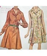 VTG 60s Sew Pattern~Day SHIRT-DRESS princess se... - $7.91