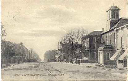 Primary image for Fayette Ohio Main Street Vintage 1916 Post Card