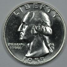 1955 D Washington uncirculated silver quarter BU - $13.25