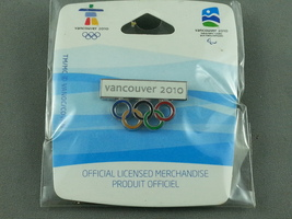 Vancouver 2010 - Winter Olympic Games - Olympic ring pin - Still sealed in bag ! - $15.00