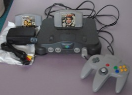 vtg NINTENDO 64 CONTROL DECK Console COMPLETE Gaming System w/2 games NU... - $138.88