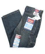 Wrangler Cargo Relaxed Straight Kids Zip Jeans Adjustable Waistband 5 R ... - $16.99