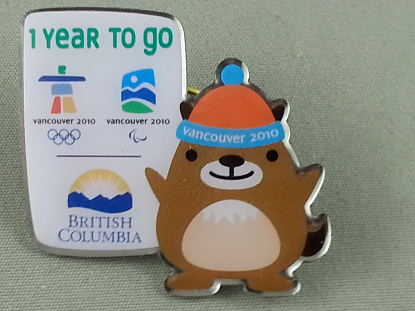 Primary image for Vancouver 2010 - Winter Olympic Games - 1 Year Countdown Pin - Ft. Muk Muk