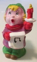 "Vintage 1980 WALLACE BERRIE Christmas PVC figure CAROLER singing 2.25"", ... - $48.99"