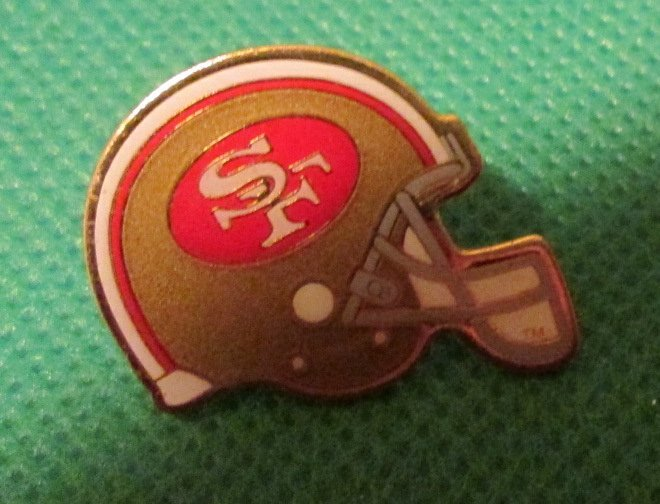 "1994 NFL San Fransisco 49ERS football helmet pinback lapel PIN 1"""