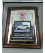 Vintage Rolls Royce Bar Mirror - Fearturing the 1933 Phanton Rolls Royce... - $85.00