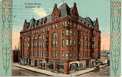 Primary image for The Nelson House Rockford Illinois 1913 Vintage Post Card