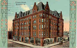 The Nelson House Rockford Illinois 1913 Vintage Post Card - $5.00