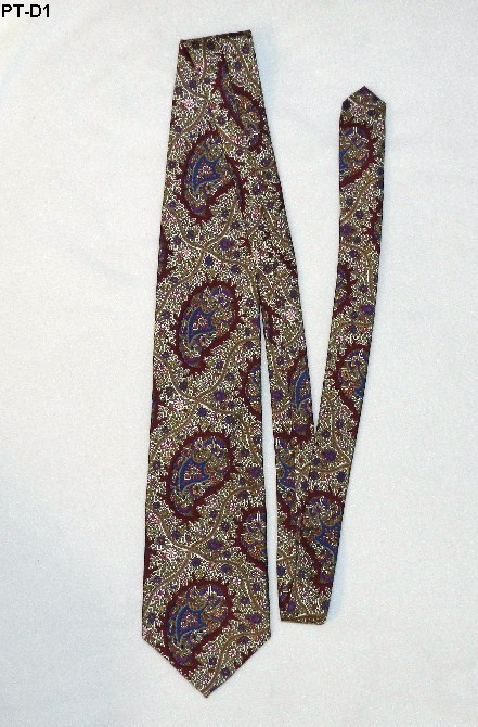 Pattinni Burgundy Paisley Print Tie