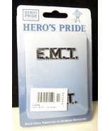 "EMT Collar Pin Set Nickel 1/2"" Cut Out Letters ... - $14.48"