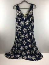 Vtg 90s Campagnie Internationale Express Slip Tank Dress Blue Floral 13/... - $27.72