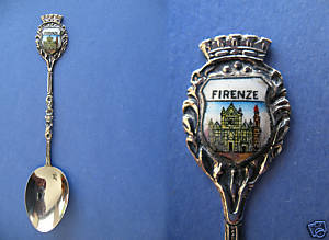 Primary image for FLORENCE ITALY Souvenir Collector Spoon ITALIAN Firenze Castle Collectible