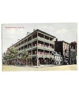 York PA National Hotel Vtg 1911 Postcard Flag Cancel - $6.36