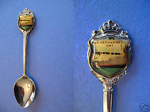 Primary image for ST. CATHARINES Ontario Souvenir Collector Spoon Vintage Collectible FERRY SHIP