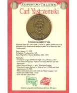 1985 carl yastrzemski commemorative coin boston red soxs cooperstown col... - $14.99