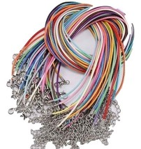 2 Pack Choker Accessories, 1.5 mm Colorful Leather Cord Wax Rope Chains,... - $12.95