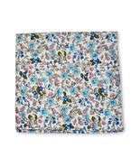 Frederick Thomas avorio e blu cotone con fiori Fazzoletto quadrato da ta... - $19.98