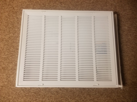 TruAire H190 25 in. x 20 in. 5-Column Return Air Grille, White - $35.00